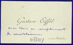 Gustave EIFFEL autographe