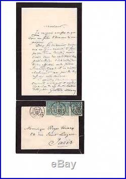 Gustave Moreau / Lettre Autographe Signée (1892) / À Roger Marx