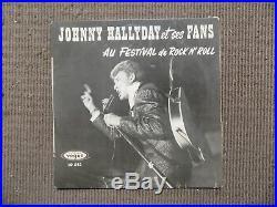 HALLYDAY VINYLE BLANC (Picture Disc) + Dédicace 1961 sur Pochette 33T 25 cm VIDE