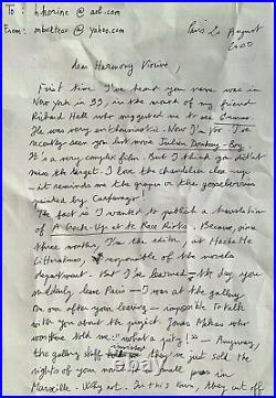 HARMONY KORINE, Correspondance d'édition avec Michel BULTEAU 7 fax + 7 mails imp