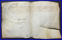 HENRI IV Roi de France Document / lettre signée 1594