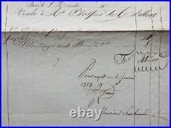 HERBAULT Paris. Exceptionelle facture de 1818. Napoleon. Josephine de Beauharnais