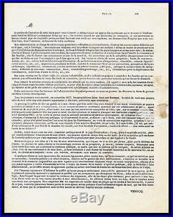 HISTORIQUE LETTRE AUTOGRAPHE SIGNEE VIDOCQ (1857) signed signiert autogramm