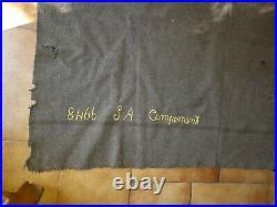 Havresac couverture ww1 campement couvre pieds 1915 poilu guerre Verdun 14 18