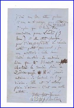 Hector Berlioz / Lettre Autographe (1859) / Au Sujet De Son Opera Les Troyens