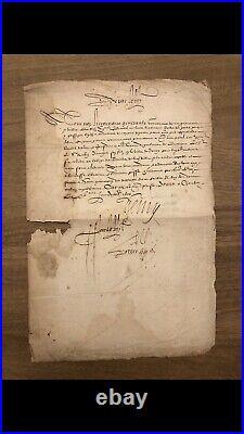 Henri IV AUTOGRAPHE 1600