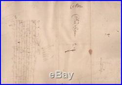 Henri IV / Lettre Signée (1596) / Siège De La Fère / Camp De Travecy