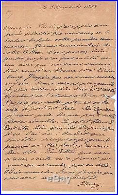 Henri V Comte De Chambord / Lettre Autographe (1835) / Henri De Brissac