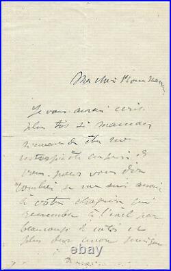 Henri de TOULOUSE-LAUTREC / Lettre autographe signée / Ses projets à Montmartre