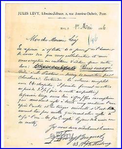 Henry Buguet A L'editeur Jules Levy Sur Son Paris Enrage (1886)