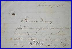 Hippolyte Flandrin commente un envoi de Jules-Elie Delaunay