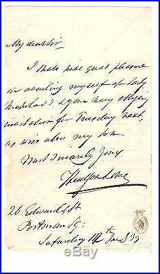 Hudson Lowe / Lettre Autographe / Napoleon / Sainte-hélène