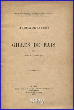 Huysmans Gilles De Rais Eo Rare Tiré À Part 100 Ex. Hors Commerce 1897