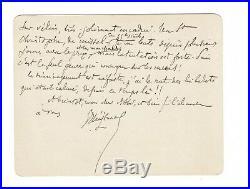 Huysmans / Lettre Autographe Signée À L'abbé Mugnier / Missel