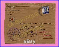 INDE FRANCAISE. Lettre du GOUVERNEUR-FRANCE LIBRE. Cachet FRANCE TOUJOURS 1943