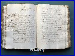 Important recueil d'actes de la fin du XVI ème provenant du GERS. 320 Feuillets