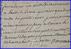 Importante lettre de Maillebois pendant l'intervention française en Corse en