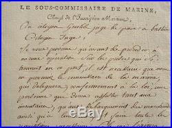 Instructions sur les prises des corsaires en Corse
