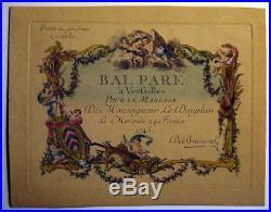 Invitation Au Bal Pare Pour Le Mariage Du Dauphin Le 24 Fevrier 1745