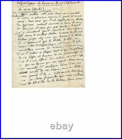 JARRY (Alfred). Ecrivain, créateur du personnage d'Ubu. Manuscrit autographe G