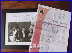 JOHNNY HALLYDAY Dédicace Autographe JOHNNY HALLYDAY avec EDDY BARCLAY