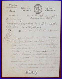 JOSEPH FOUCHÉ (1759-1820) HOMMES POLITIQUE MINISTRE de la POLICE 1798 #B769S