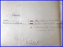 JUSTICE GUYANE BAGNE plan partiel du PENITENCIER DES ROCHES 1912