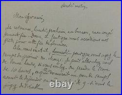 J. K. HUYSMANS Carte autographe signée au peintre J. F. Raffaëlli