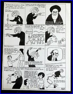 Jacques FAIZANT planche originale! TB TEXTE