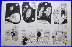 Jacques FAIZANT planche originale signée / PERE NOËL