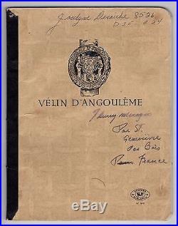 Jacques Mesrine Poème Autographe + Cahier De Prison De Sa Maitresse (1973)
