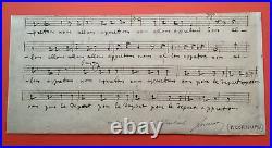 Jacques OFFENBACH Manuscrit musical autographe