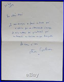 Jean COCTEAU autographe #2