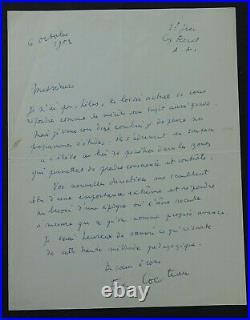 Jean COCTEAU autographe / Jolie Lettre
