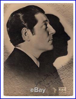 Jean GABIN Photo Dédicace Autographe Signée / Tirage Argentique