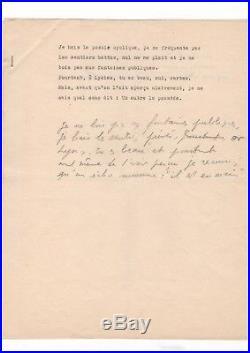Jean Genet / Epigramme Autographe / Callimaque / Manuscrit De Travail