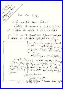 Jean Genet / Lettre Autographe (1951) / Au Sujet De Ses Portraits