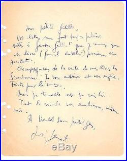 Jean Genet / Lettre Autographe Signée (1949) / Journal Du Voleur / Monique Lange