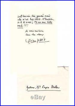 Jean Giono / Lettre Autographe Signée (à Eugene Duler) / Manosque / Hussard