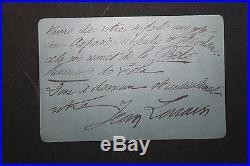 Jean Lorrain LAS Très belle lettre à Henri Houssaye autographe avec enveloppe
