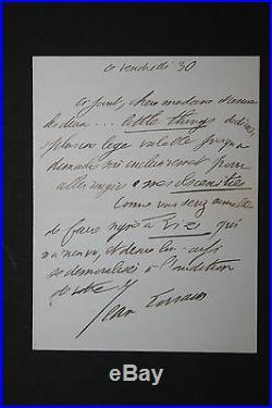 Jean Lorrain LAS à une dame lettre autographe. Mes obscénités