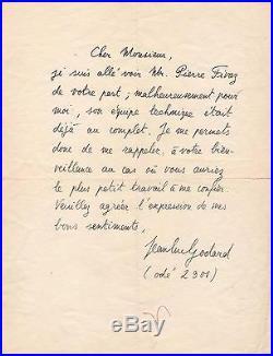 Jean Luc Godard / Lettre Autographe / À Bout De Souffle / François Truffaut