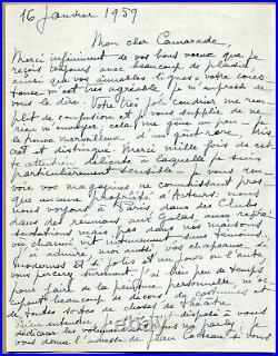 Jean Marais (1913-1998) Belle et longue lettre autographe signée en 1959 2 p