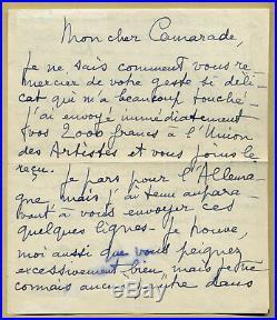 Jean Marais (1913-1998) Belle lettre autographe signée en 1958, 2 pages