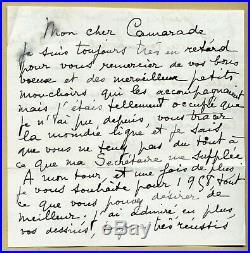 Jean Marais (1913-1998) Rare belle lettre autographe signée en 1958 2 pages