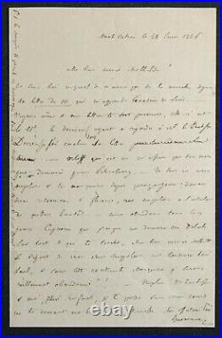 Jérôme BONAPARTE, autographe évoquant l'évasion de NAPOLEON III
