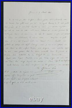 Jérôme BONAPARTE, frère de NAPOLEON, autographe à MATHILDE