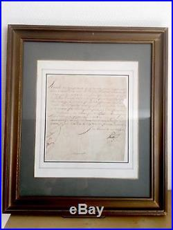 Joachim Murat / Lettre Signée / Curieuse Lettre Au Sujet D'un Diamantaire