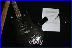 Johnny Hallyday Autographe Dedicace HALLYDAY Guitare + Certificat Authenticité