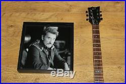Johnny Hallyday Autographe Dedicace HALLYDAY sur Guitare LTD VIPER 100FM, Unique